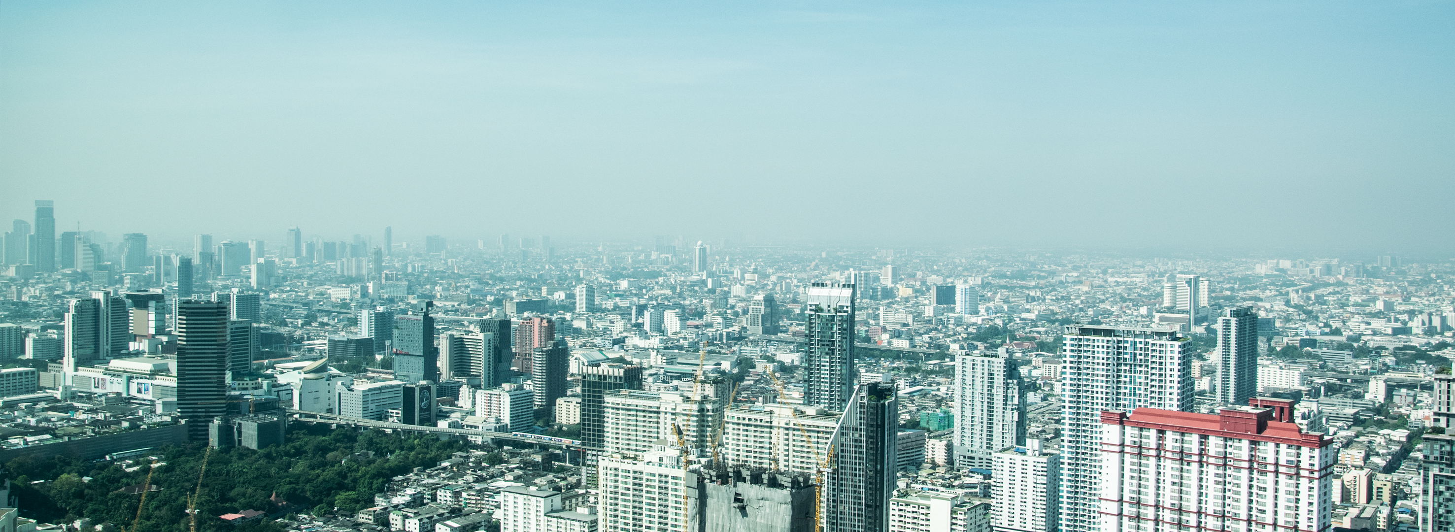 Siluetti kaupungista Bangkok
