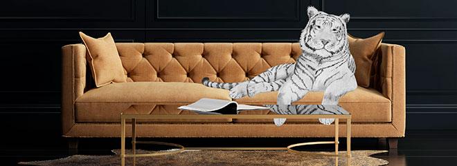 Kuvitus Tiikeri sohvalla