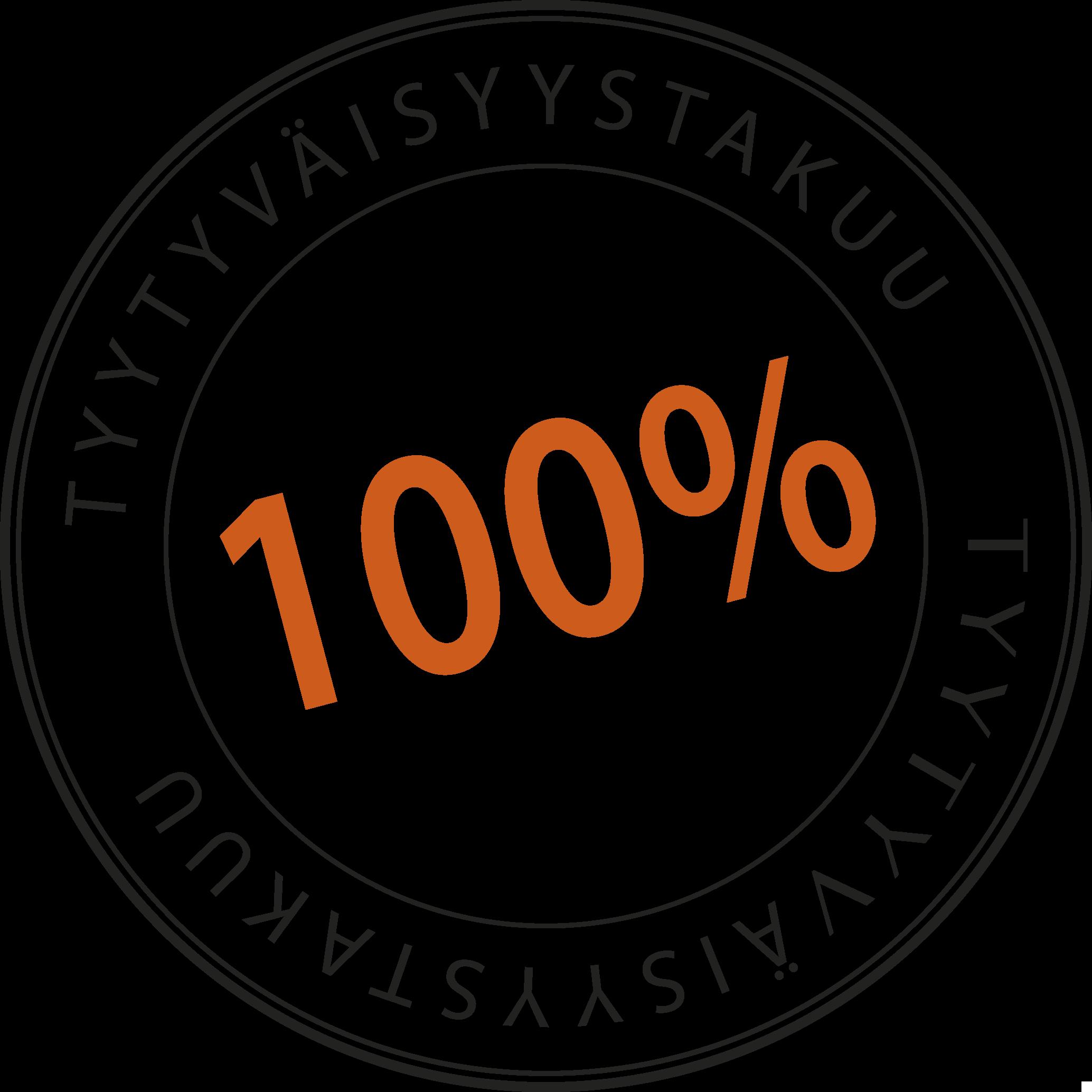 100% tyytyväisyystakuu