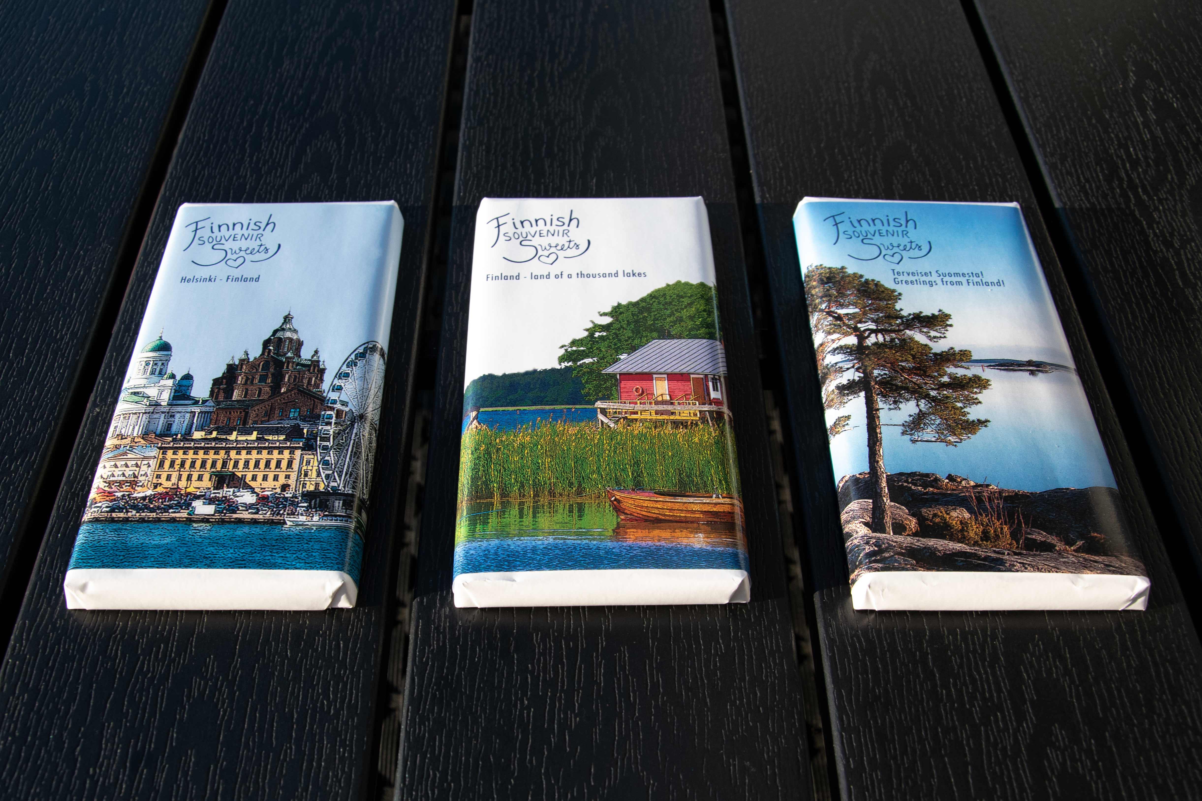 Pakkaussuunnittelua Finnish Souvenir Sweets